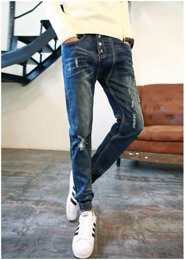 Quần jeans jogger nhiều nút Mã: ND0626