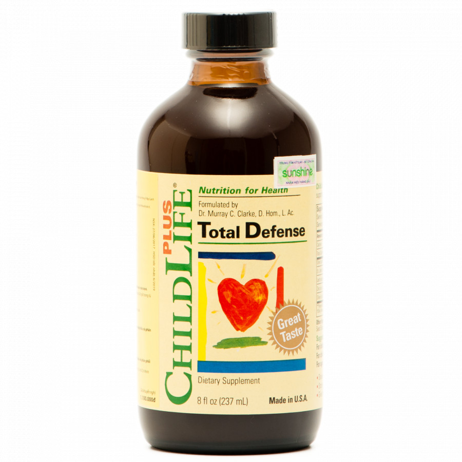 Thực phẩm chức năng ChildLife Plus Total Defense: Tăng miễn dịch! Giảm kháng sinh