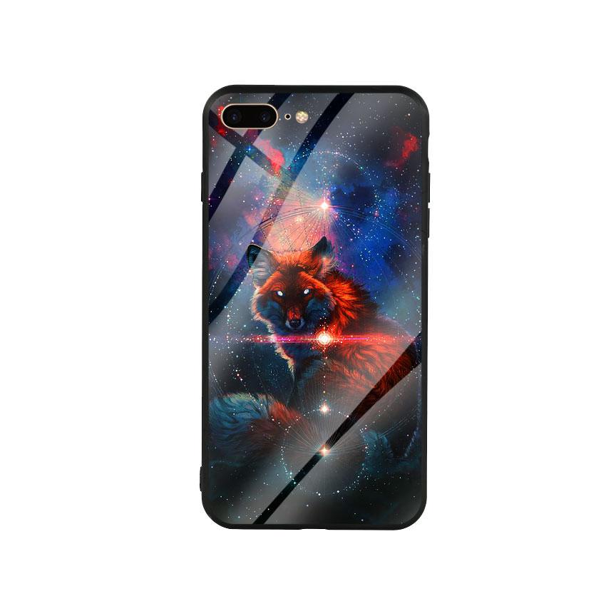 Ốp Lưng Kính Cường Lực cho điện thoại Iphone 7 Plus / 8 Plus - Fox 05