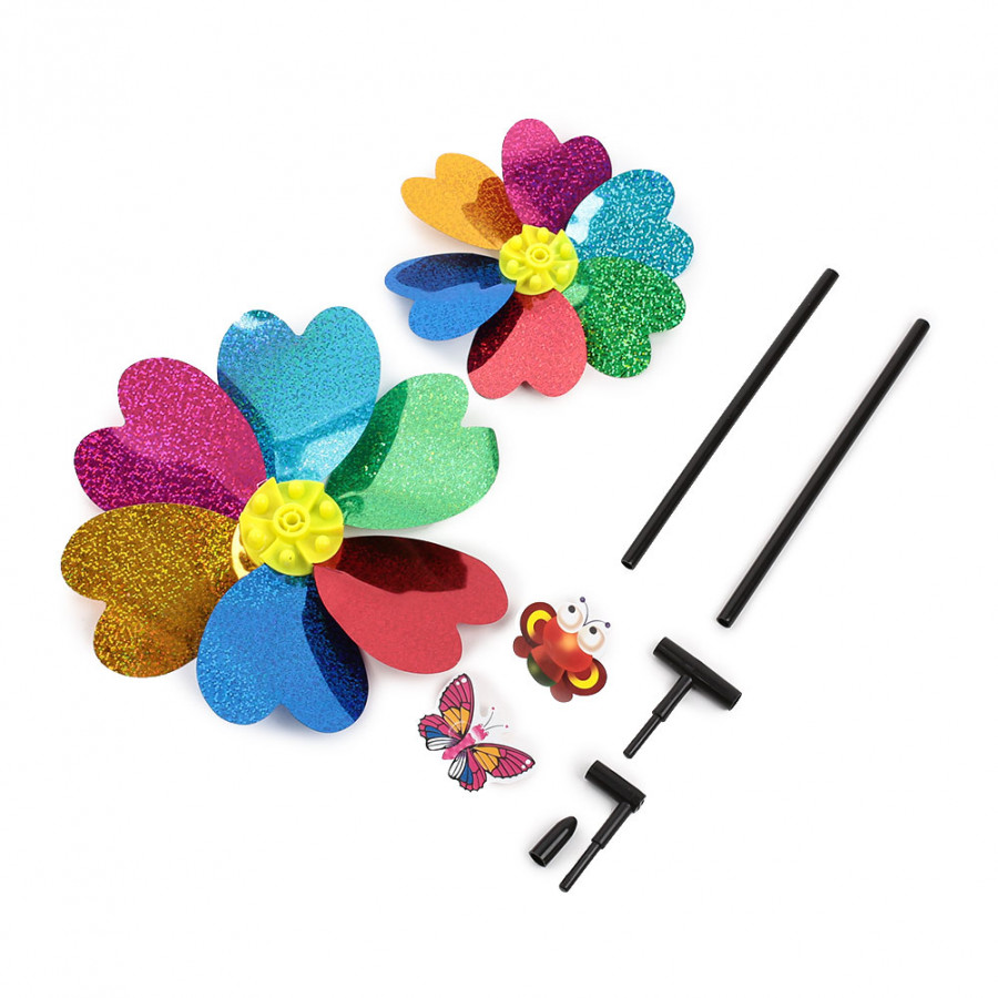 Children Windmill Plastic Windmill Funny Plastic Toy Kid Entertainment