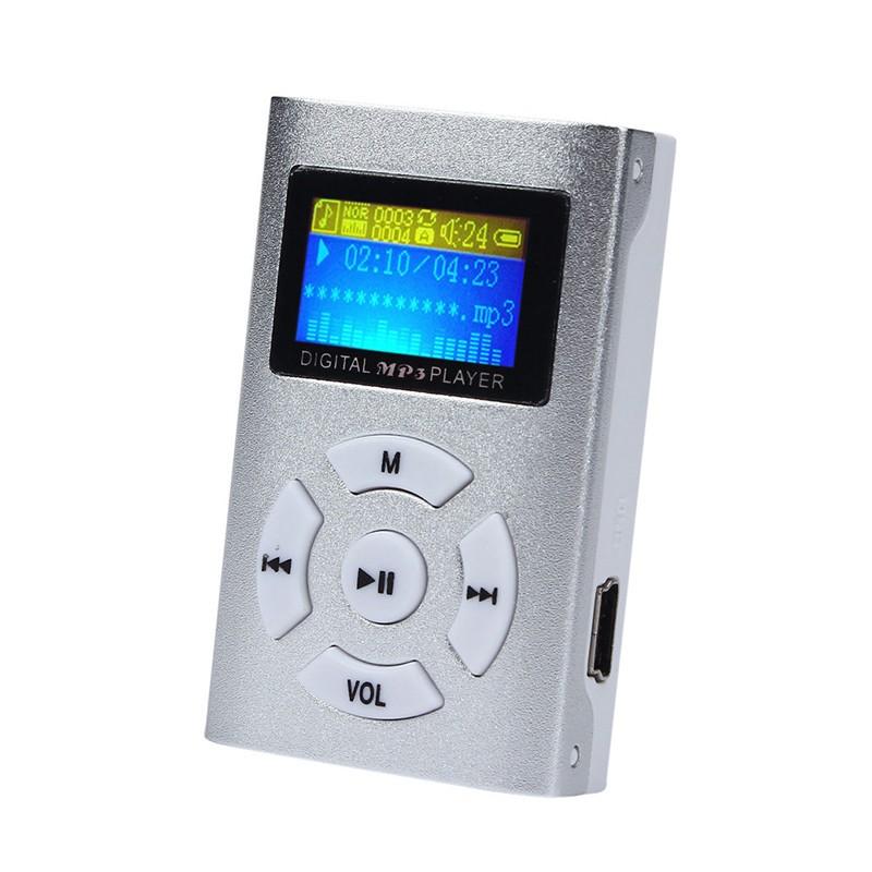 Máy Nghe Nhạc Mp3 Màn Hình LCD USB Mini Hỗ Trợ Thẻ Nhớ SD (32GB)
