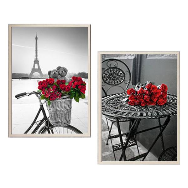 Bộ 2 Tranh Canvas Paris Và Hoa Hồng Đỏ HD304 - 1329456 , 2978905192602 , 62_5471359 , 880000 , Bo-2-Tranh-Canvas-Paris-Va-Hoa-Hong-Do-HD304-62_5471359 , tiki.vn , Bộ 2 Tranh Canvas Paris Và Hoa Hồng Đỏ HD304