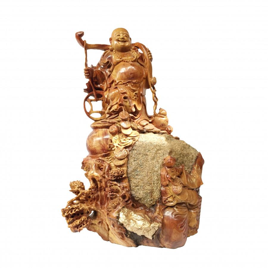 Tượng Phật Di Lặc ôm đá cực độc - gỗ Hương - 7467136 , 1238211587488 , 62_15704851 , 21000000 , Tuong-Phat-Di-Lac-om-da-cuc-doc-go-Huong-62_15704851 , tiki.vn , Tượng Phật Di Lặc ôm đá cực độc - gỗ Hương