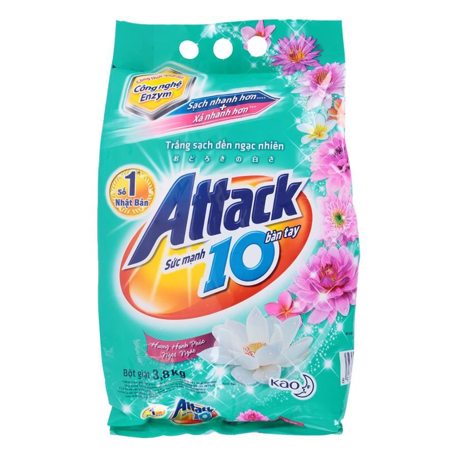 Bột Giặt Attack Hương Hạnh Phúc Ngọt Ngào (3.8kg)