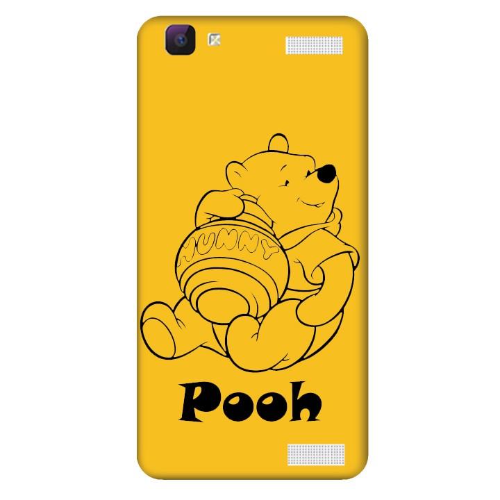 Ốp lưng nhựa cứng nhám dành cho Vivo Y37 in hình Pooh