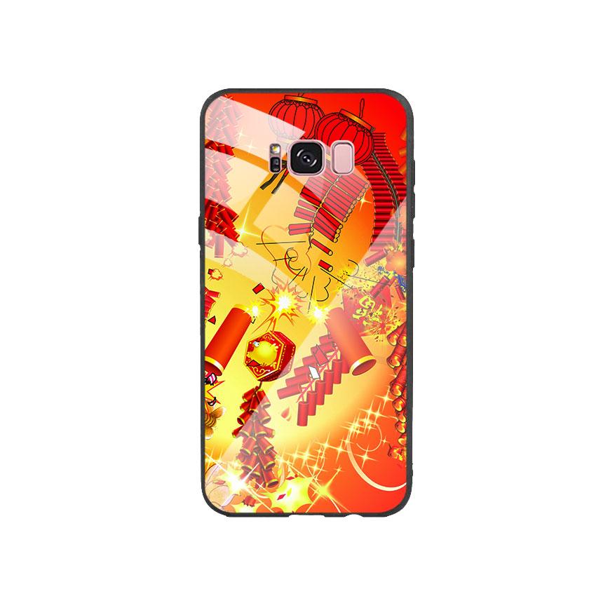 Ốp Lưng Kính Cường Lực cho điện thoại Samsung Galaxy S8 Plus - Firework 02