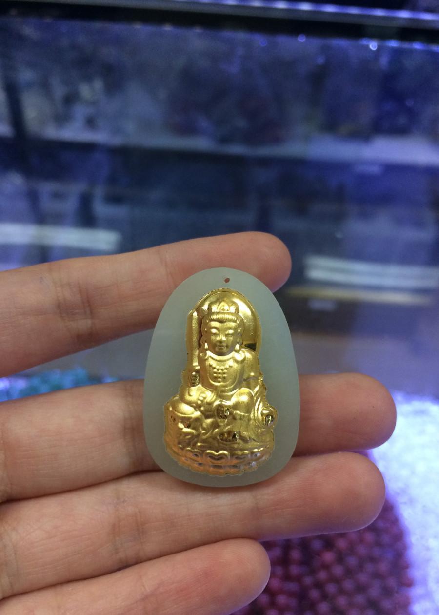 Mặt dây chuyền Ngọc Mạ Vàng dành cho người tuổi Mão.