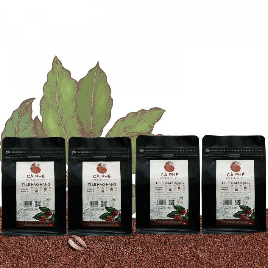 4 gói Cà phê bột nguyên chất 100% Tỉ lệ Hảo Hạng - 30% Robusta + 70% Arabica - Light coffee - gói 250g - 1254618 , 4549559083837 , 62_7089219 , 823000 , 4-goi-Ca-phe-bot-nguyen-chat-100Phan-Tram-Ti-le-Hao-Hang-30Phan-Tram-Robusta-70Phan-Tram-Arabica-Light-coffee-goi-250g-62_7089219 , tiki.vn , 4 gói Cà phê bột nguyên chất 100% Tỉ lệ Hảo Hạng - 30% Robus