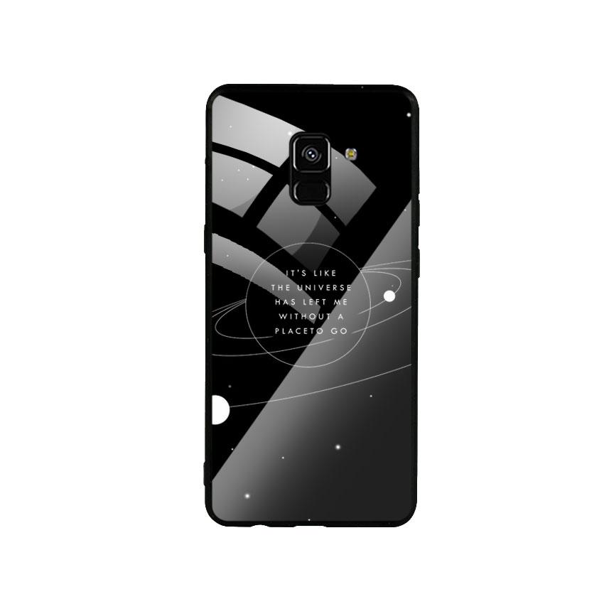 Ốp Lưng Kính Cường Lực cho điện thoại Samsung Galaxy A8 Plus - Alone 02