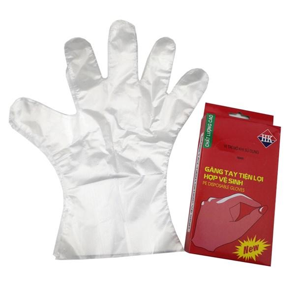 Hộp găng tay nilon chế biến thức ăn an toàn thực phẩm GS0088