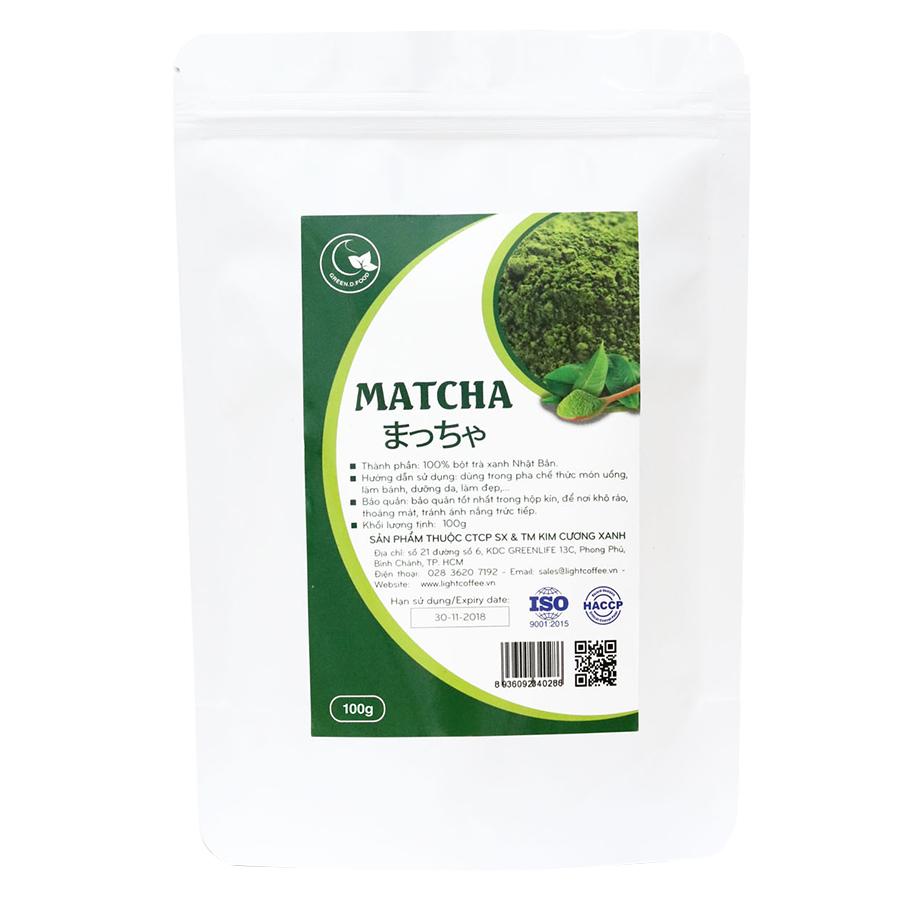 Bột Matcha Trà Xanh Nguyên Chất GreenD Food (100g)