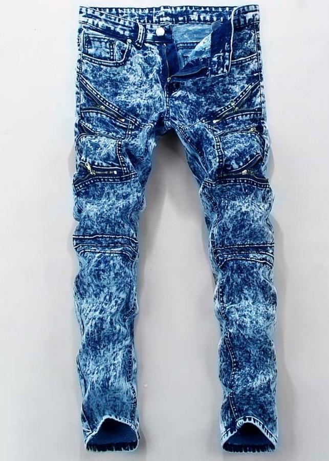 Quần jeans nam dây kéo - Mã: ND1088