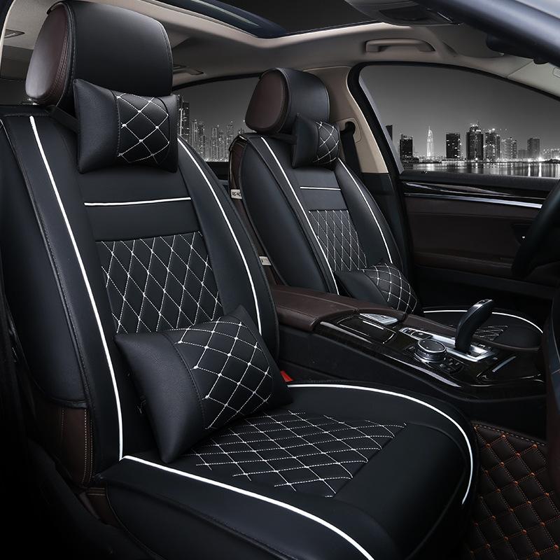 Áo ghế ô tô, Áo ghế xe hơi, bọc da ghế xe A00 (5 Ghế + 4 Gối)