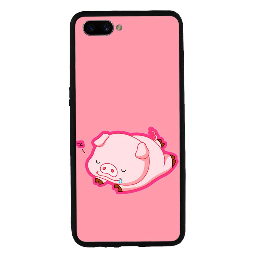 Ốp lưng nhựa cứng viền dẻo TPU cho điện thoại Oppo A3s - Pig 2019 Mẫu 3