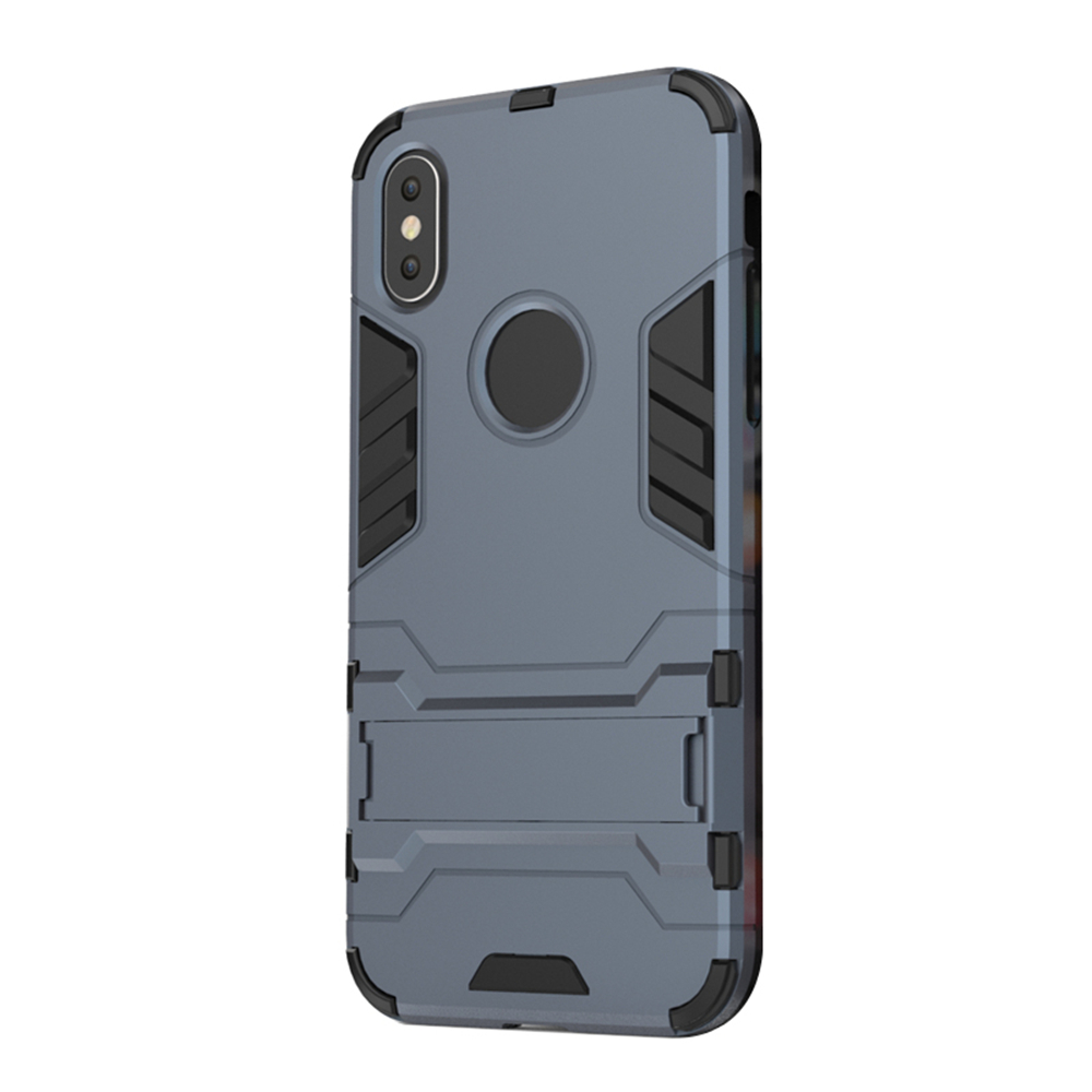 Case for iPhone X with Stand Back Cover Solid Colored Hard PC