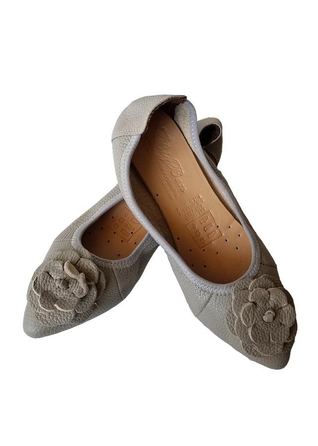 Giày Búp Bê BIGGBEN Da Bò Thật BB07