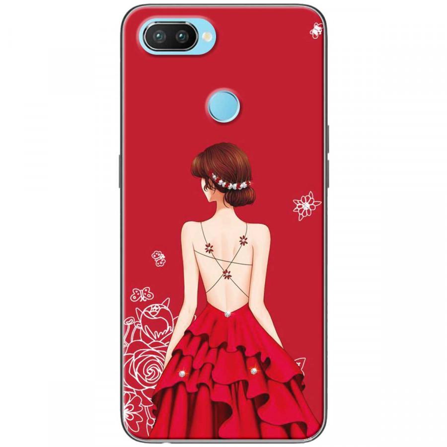 Ốp lưng dành cho Realme 2 Cô gái váy đỏ áo dây