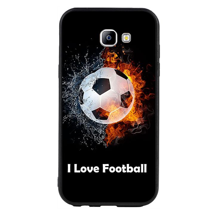 Ốp lưng viền TPU cao cấp cho Samsung Galaxy A7 2017  - I Love Football