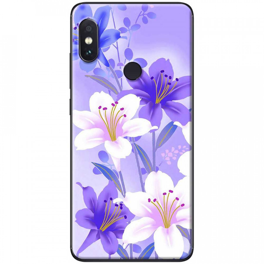 Ốp lưng dành cho Xiaomi Redmi Note 6 mẫu Hoa trắng tím