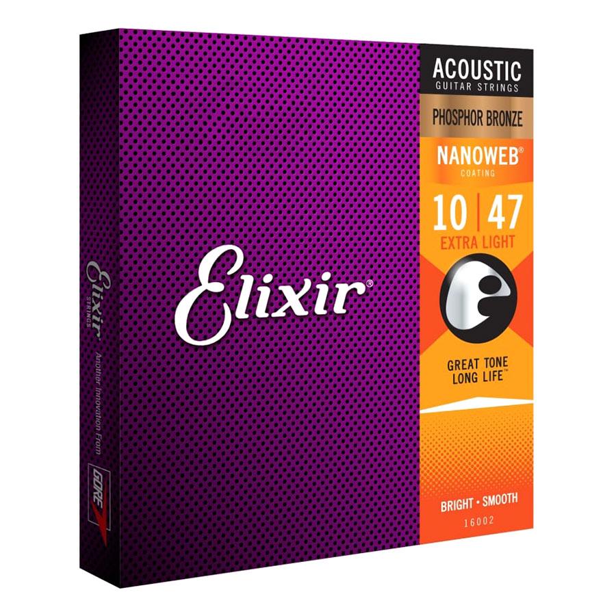 Dây Đàn Guitar Acoustic Elixir 16047 (Cỡ 10) - 883439 , 6352317722620 , 62_1467773 , 415000 , Day-Dan-Guitar-Acoustic-Elixir-16047-Co-10-62_1467773 , tiki.vn , Dây Đàn Guitar Acoustic Elixir 16047 (Cỡ 10)