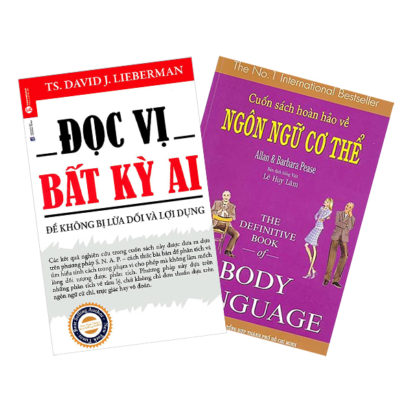 Combo Đọc Vị Bất Kỳ Ai + Cuốn Sách Hoàn Hảo Về Ngôn Ngữ Cơ Thể (2 cuốn)