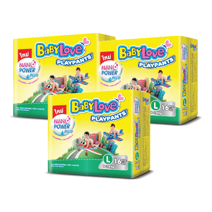 Combo 3 gói tã quần Thái Lan BabyLove Playpants