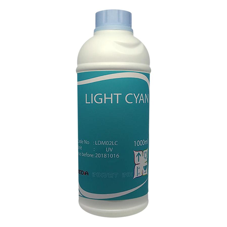 Mực In Màu Media DYE UV Màu Xanh Nhạt Cho Máy In Epson 1000ml (LC) - Hàng Chính Hãng