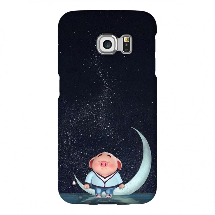Ốp Lưng Cho Điện Thoại Samsung Galaxy S6 Edge - Mẫu heocon 015