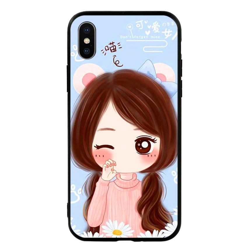 Ốp lưng viền TPU cao cấp cho điện thoại Iphone X -Baby Girl