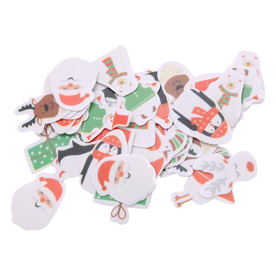 Hộp 50 Sticker Trang Trí Noel Loại Nhỏ