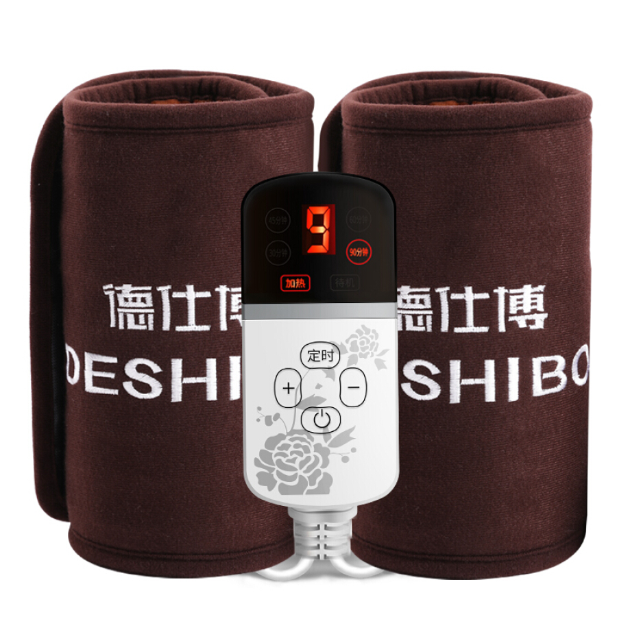 Deshibo electric knee pads warm old cold legs electric heating moxibustion sea salt heat pack knee physiotherapy fever instrument men and women...