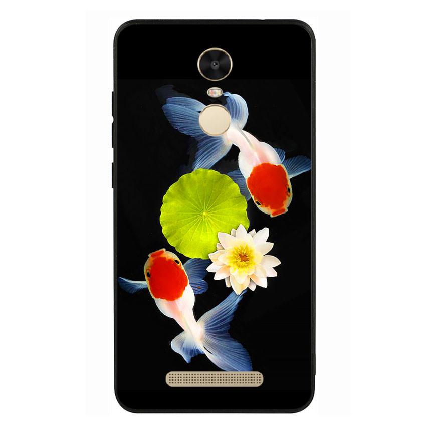 Ốp lưng viền TPU cho điện thoại Xiaomi Redmi Note 3 - Cá Koi 04