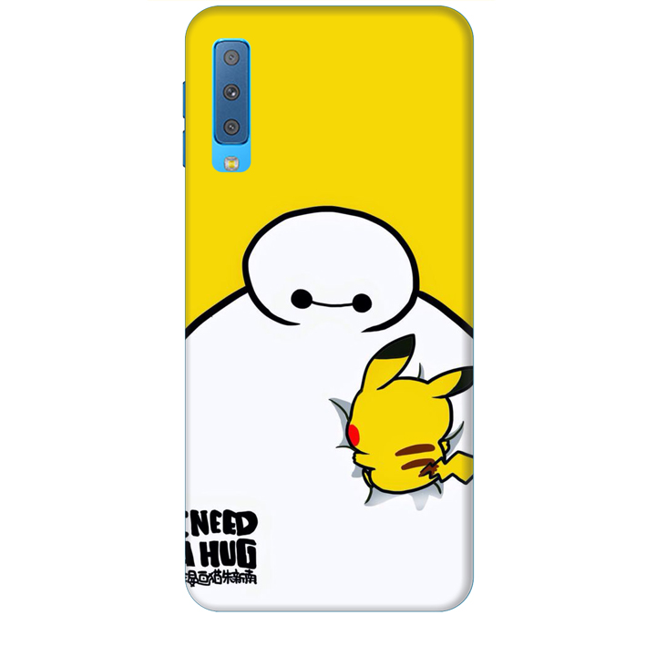 Ốp lưng dành cho điện thoại  SAMSUNG GALAXY A7 2018 hinh Big Hero Pikachu