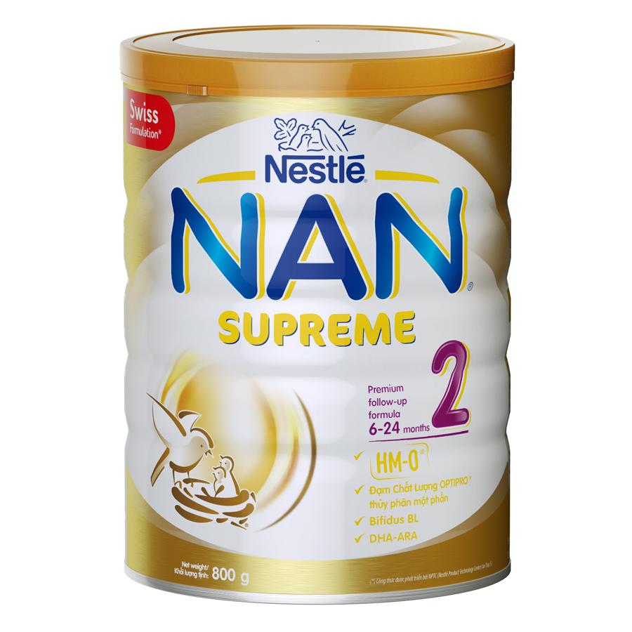 Sữa Bột Nestle Nan Supreme 2 (800g) - 1010700 , 5739663023709 , 62_2810767 , 479000 , Sua-Bot-Nestle-Nan-Supreme-2-800g-62_2810767 , tiki.vn , Sữa Bột Nestle Nan Supreme 2 (800g)