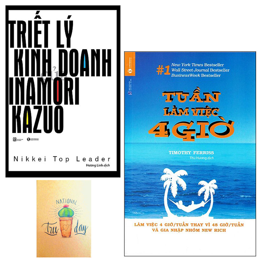 Combo Tuần Làm Việc 4 Giờ và Triết Lý Kinh Doanh Của Inamori Kazuo ( Tặng Kèm Sổ Tay )