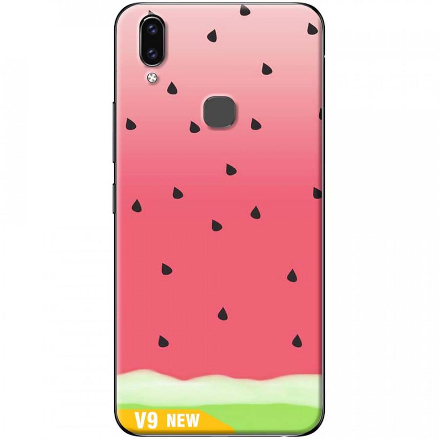 Ốp lưng dành cho Vivo V9 mẫu Nền dưa hấu