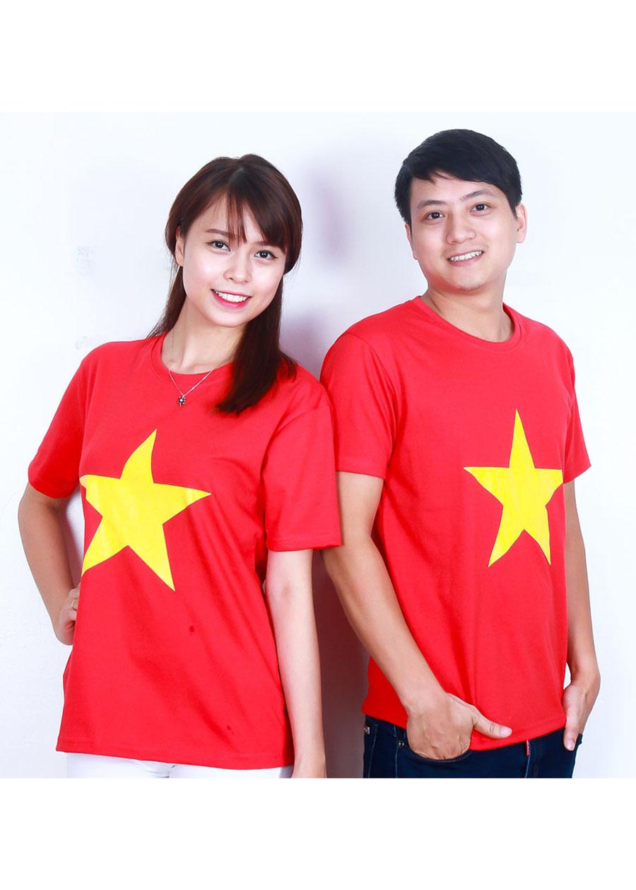 Áo cờ đỏ sao vàng cổ vũ VIệt Nam vô địch