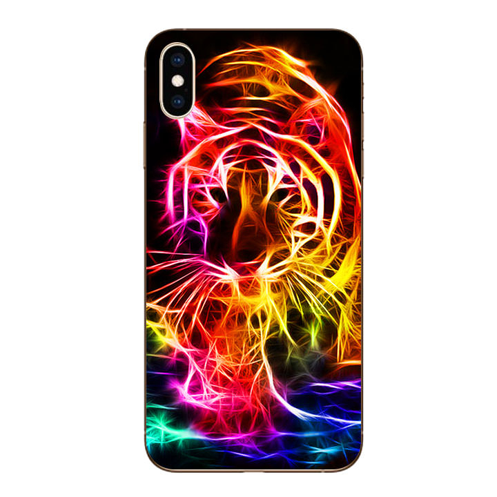 Ốp lưng dẻo cho Iphone XS Max - Tiger 03