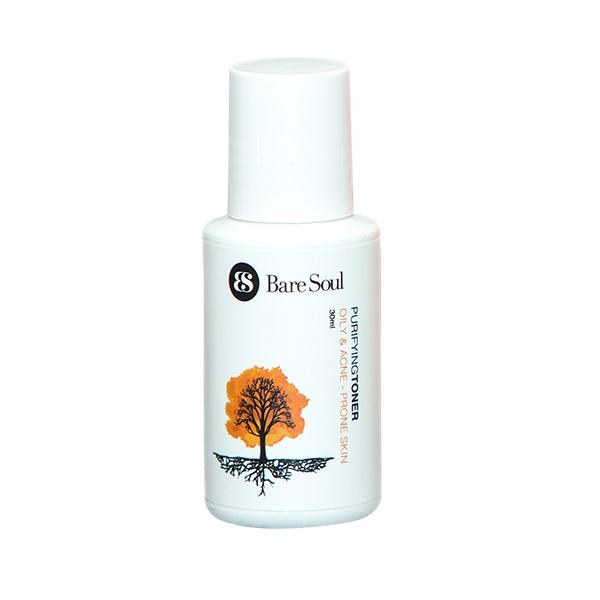 Nước hoa hồng thanh lọc BareSoul – Da dầu và da mụn 30ml  – Purifying Toner Oily  Acne Prone Skin