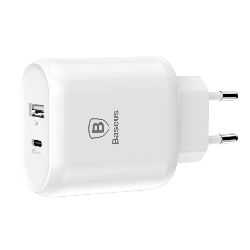 Sạc nhanh đa năng 28W/ 32W Baseus Bojure cho Smartphone/ Tablet/ Macbook (2 Ports , USB + Type C PD Quick charge 3.0)- Hàng nhập khẩu.