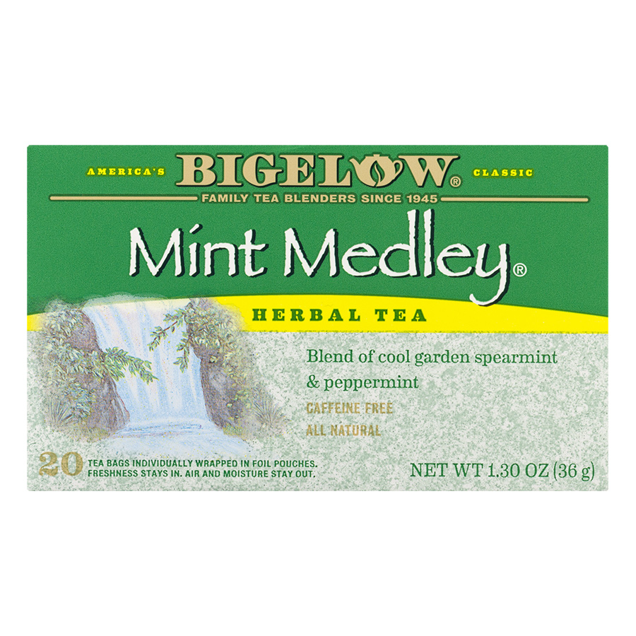 Hộp 20 Túi Trà Thảo Mộc Bigelow Mint Medley Herbal Tea (36g) - 915084 , 72310818736 , 62_1751465 , 126000 , Hop-20-Tui-Tra-Thao-Moc-Bigelow-Mint-Medley-Herbal-Tea-36g-62_1751465 , tiki.vn , Hộp 20 Túi Trà Thảo Mộc Bigelow Mint Medley Herbal Tea (36g)
