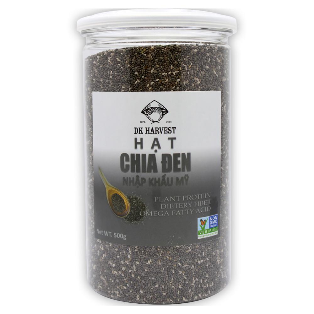 Hạt Chia Đen DK Harvest (Nhập Khẩu USA) - Hàng loại 1 - 300g, 500g,1kg - 18739095 , 5020465822684 , 62_17967608 , 215000 , Hat-Chia-Den-DK-Harvest-Nhap-Khau-USA-Hang-loai-1-300g-500g1kg-62_17967608 , tiki.vn , Hạt Chia Đen DK Harvest (Nhập Khẩu USA) - Hàng loại 1 - 300g, 500g,1kg