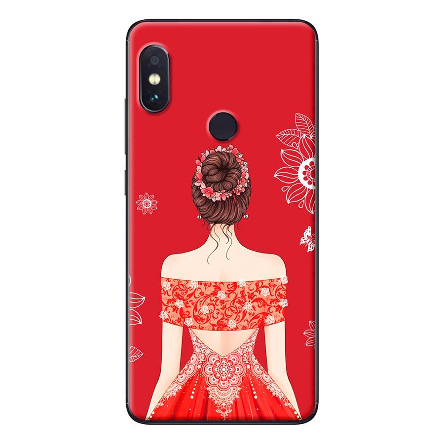 Ốp Lưng Dành Cho Xiaomi Redmi Note 5 Cô gái váy đỏ áo xẻ vai
