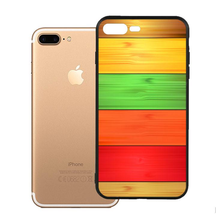 Ốp lưng nhựa cứng viền dẻo TPU cho điện thoại Iphone 7 Plus/8 Plus - Sắc Màu