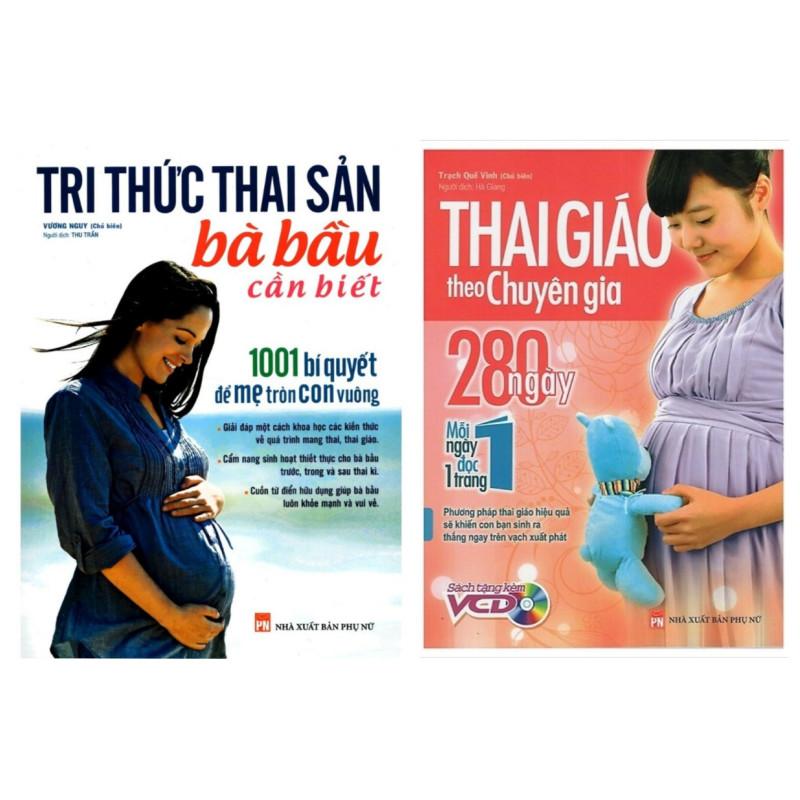 Combo Sách Về Kiến Thức Mang Thai: Tri Thức Thai Sản Bà Bầu Cần Biết +  Thai Giáo Theo Chuyên Gia