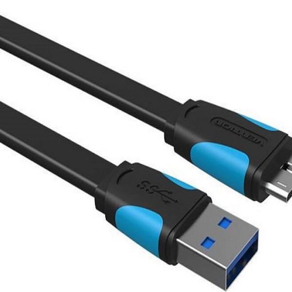 Cáp USB 3.0 cho ổ cứng di động Vention VAS-A12-050 dài 50cm chính hãng đầu nối mạ nikel chống gỉ vỏ nhựa PVC - 1290576 , 2779878876281 , 62_13746097 , 110000 , Cap-USB-3.0-cho-o-cung-di-dong-Vention-VAS-A12-050-dai-50cm-chinh-hang-dau-noi-ma-nikel-chong-gi-vo-nhua-PVC-62_13746097 , tiki.vn , Cáp USB 3.0 cho ổ cứng di động Vention VAS-A12-050 dài 50cm chính hã