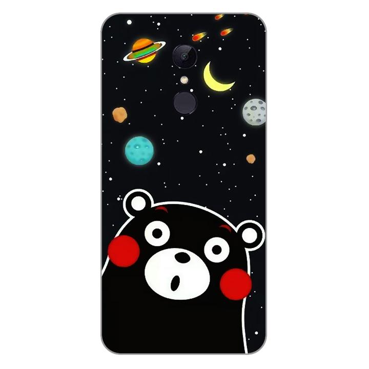 Ốp lưng dẻo Nettacase cho điện thoại Xiaomi Redmi 5 plus_0345 BEAR03 - Hàng Chính Hãng