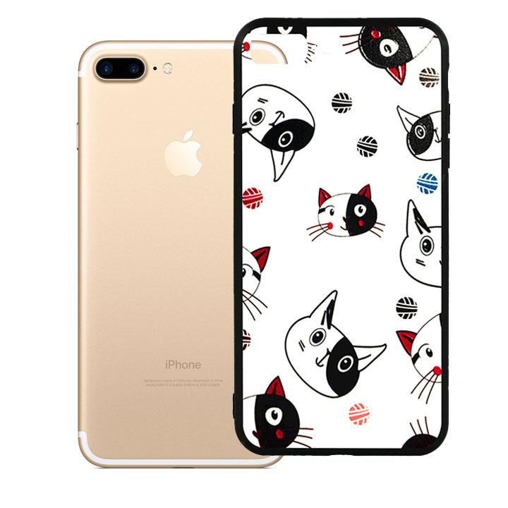 Ốp lưng viền TPU cao cấp dành cho iPhone 7 Plus - Kute Cat 02