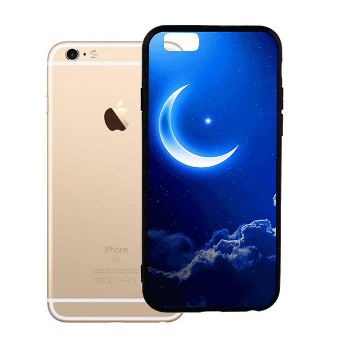 Ốp lưng viền TPU cho Iphone 6 Plus - Moon 01