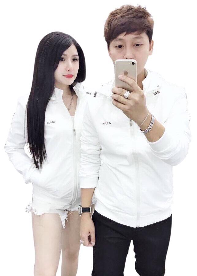 Áo khoác cặp cao cấp ADD trắng trơn TCS